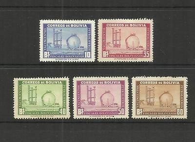 Bolivia ~ 1955 Development Of Petroleum Industry (Postage Set) Mh