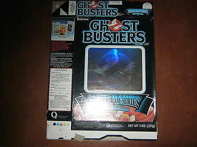 Ghost Busters HOLOGRAM Cereal Box 1986