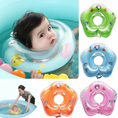Infantable Kids Baby Swimming Neck Float Ring Safety Aid Toy Bath Pool Blue
