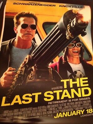 "USED IN THEATERS!! ORIGINAL 27""x40"" CINEMA MOVIE POSTER The Last Stand"