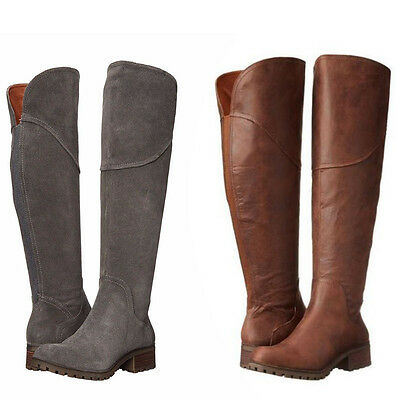 b9674125c94 Lucky Brand Womens Harleen Over The Knee Side Zip Casual Tall Riding Boots