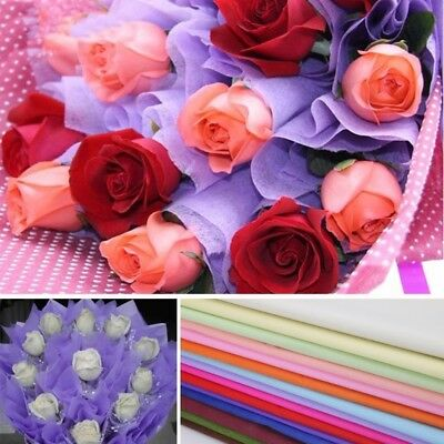 43 Sheets Tissue Paper Flower Wrapping Kids DIY Crafts Materials Wedding Party