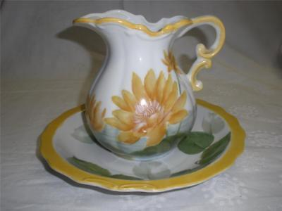 Fabulous Porcelain Hand Painted Jug And Bowl Set