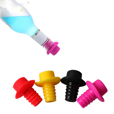 2pcs Silicone Champagne Stopper Wine Bottle Stopper Preservation Stoppers H