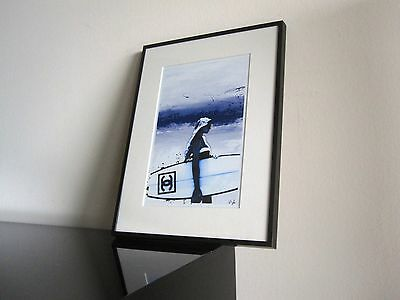 Vintage - Chanel - Beach - Kunst - Modern Art - signiert - Illustration Surfing