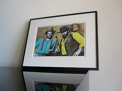 Bud Spencer - Terence Hill - Pop Art - Kunst - RIP - signiert