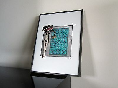 Louis Vuitton - Clutch - Kunst - Modern Art - Bikini - Illustration signiert