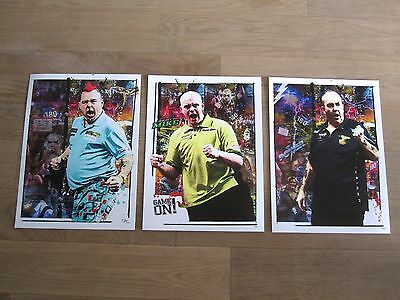 DARTS - Michael van Gerwen Peter Wright Phil Taylor - Kunst - Pop Art Trilogie
