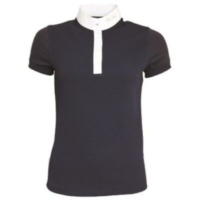 MARK TODD ALICIA LADIES COMPETITION POLO SHIRT NAVY short sleeve for women