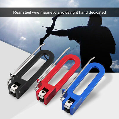Archery Bow Magnetic Arrow Rest Stick to Metal Bow Riser Tool For Recurve Bow EB
