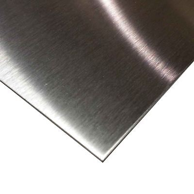 "Brushed Finish Stainless Steel Sheet .035"" (20 ga.) x 12"" x 24"" - Alloy 304"