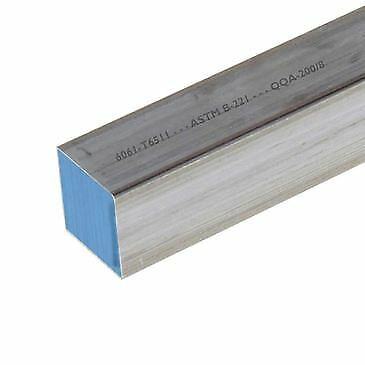 6061-T6511 Aluminum Square Bar 1 inch x 1 inch x 12 inches long