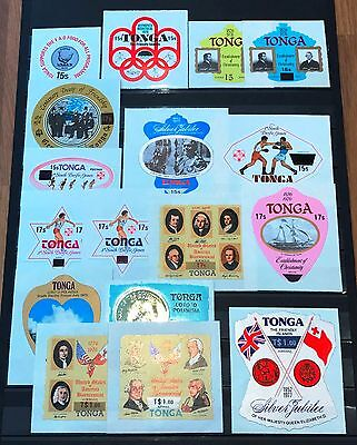 Tonga Year Set 1976-1978 misc. Overprints & Surcharges in Silver Jubilee 1$/35c