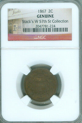 1867 Two Cent Ngc Stacks W 57Th St. Collection (1722045)