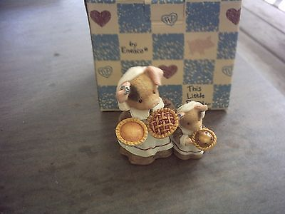 1996 This Little Piggy Happy Thanksgiving Figurine With Box