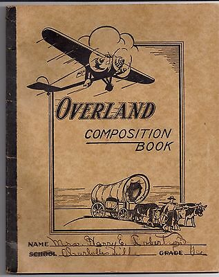 OVERLAND COMPOSITION BOOK Mrs. Harry E. Robertson CHARLOTTESVILLE Virginia
