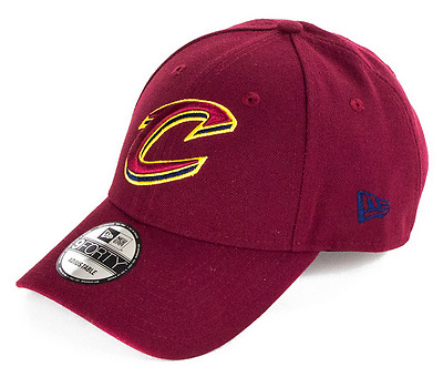 New Era 9FORTY NBA Cleveland Cavaliers Logo Curved Peak The League Strapback Hat