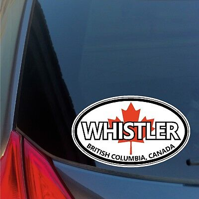 Whistler oval sticker decal car truck window ski snowboard board Canada olympics