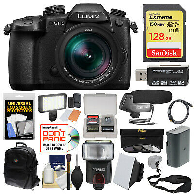 Panasonic Lumix DC-GH5 Wi-Fi 4K HD Digital Camera & 12-60mm f/2.8-4.0 Lens Kit