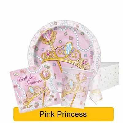 PINK PRINCESS Birthday Party Range - Tableware Balloons & Decorations {Unique}