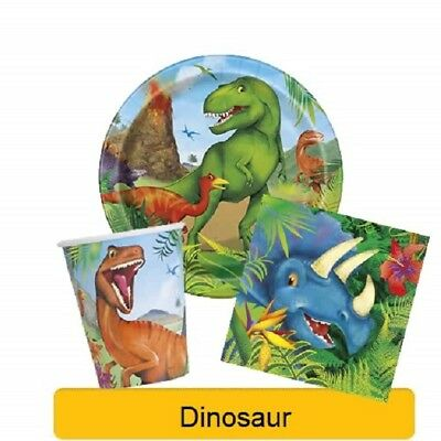 DINOSAUR Birthday Party Range - Tableware, Banners, Balloons & Decorations {UQ}