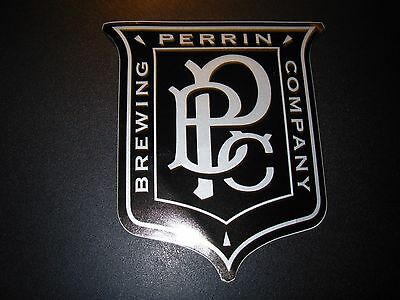 PERRIN BREWING COMPANY no rules shield logo STICKER decal craft beer brewery