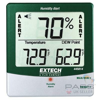 *NEW* Extech 445814 Thermometer, Humidity, Dewpoint and Temperature Alert / UK