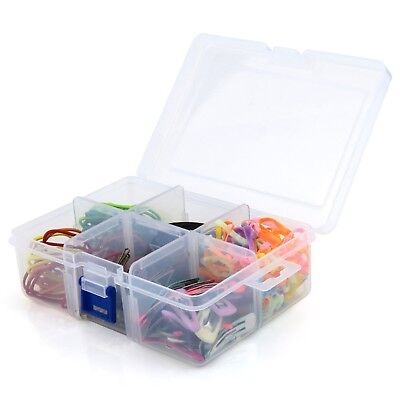 Hangerworld™ Clear Multi Purpose Plastic Transparent Storage Box 6 Compartments