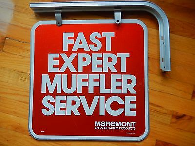 VTG Maremont Muffler shop AUTO Service Station Island ORIGINAL Pole Hanger SIGN