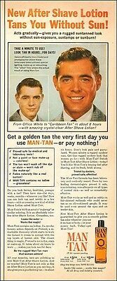 1960 vintage AD MAN TAN , After Shave that TANS like the Sun! 072617