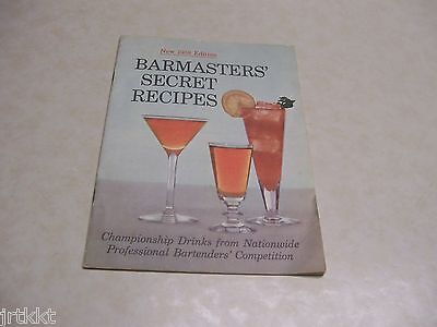 Early Times Kentucky Whisky New 1958 Edition Barmasters' Secret Recipes Booklet