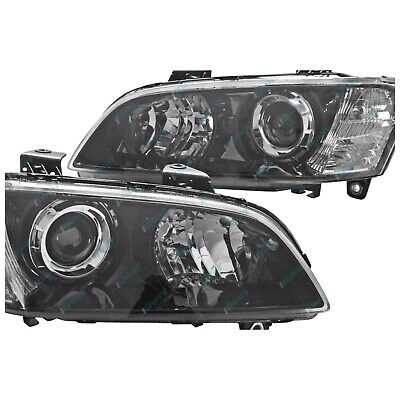 Holden VE Commodore Series 1 '06-'10 Black Projector Headlights Pair Left+Right