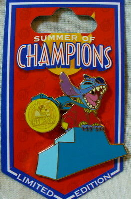 Disney Summer of Champions Stitch Limited Edition Pin