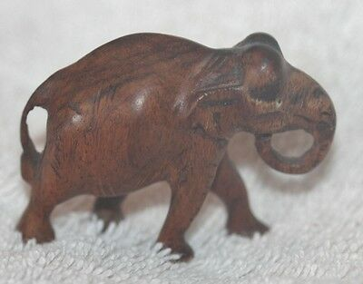 Elephant Small Carved Wood Approx 2X1.5 In