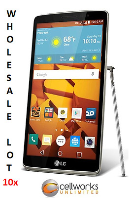 10 LG G Stylo ( Boost Mobile ) - LS770 - 8GB - Black - CLEAN IMEI WHOLESALE LOT