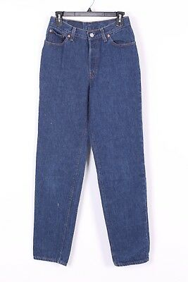 Vtg Levis 501 Buttonfly High Waist Mom Denim Jeans Size Medium 28-33