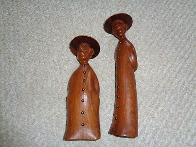 Romer Italy mid modern wood priest figurines hats buttons short fat tall skinny