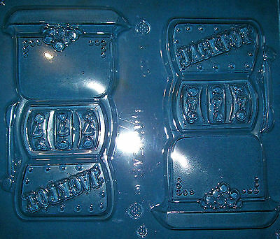 Two Large Slot Machines With A Jackpot Shapes Chocolate Mould Or Plaster Mould