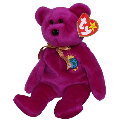 TY Beanie Baby - MILLENNIUM the Bear (8.5 inch) - MWMTs Stuffed Animal Toy