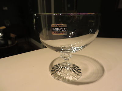1993 Mikasa Crystal RITZ Unused Footed Cocktail Dessert Dish West Germany NR  H
