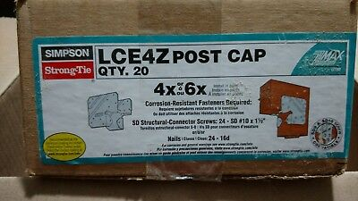 Simpson Strong Tie Post Cap LCE4Z Box of 20