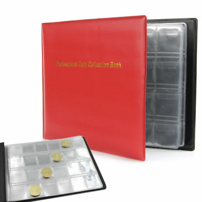 240 Collection Storage Pockets Penny Money Album Book Collecting Coin Holders