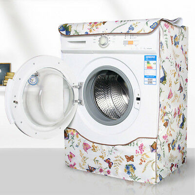 Newest Washing Machine Cover Multiuse Butterfly Pattern Front Load Dryer Cover