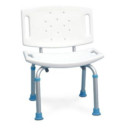 AquaSense Adjustable Bath and Shower Seat with Non-Slip Seat and Backrest White