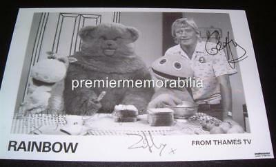 Rainbow Tv Show Series Geoffrey Hayes Zippy & George & Bungle Signed (Printed)