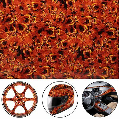 Fire Skeleton PVA Hydrographic Water Transfer Hydro Dipping DIP Print Film Decor