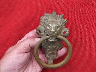 Antique Large Heavy Brass Lion Door Knocker/lion Door Striker/wild Animal Knock