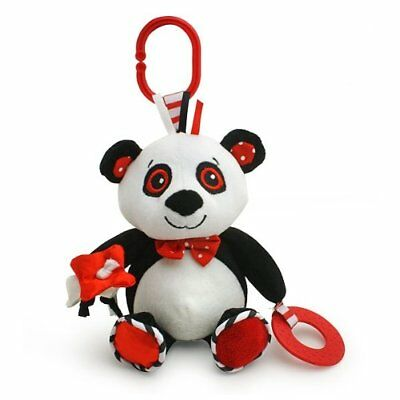 Piper the Panda black white & red baby travel toy Car Seat & Stroller Toys, New
