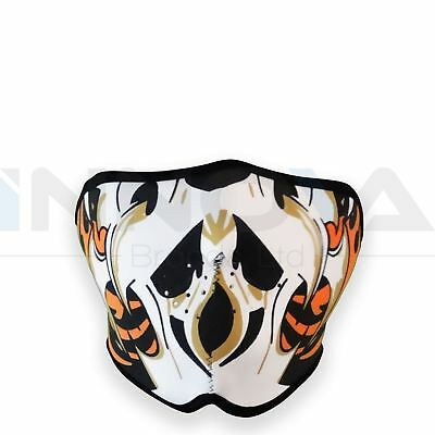Neoprene Skeleton Half Face Skull Mask Reversible Motorcycle Motor Bike Ski Quad
