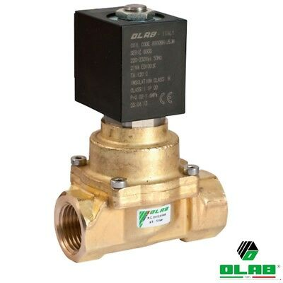"""Olab 20020 Brass Solenoid Valve Combined Operate NC 3/8"""" NPT FKM Seal 12 V DC"""